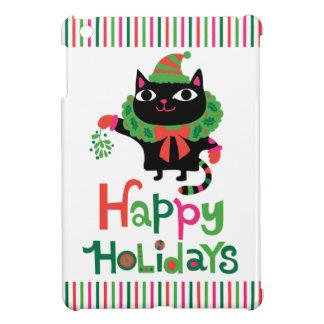 Happy Catidays Holidays Cover For The iPad Mini
