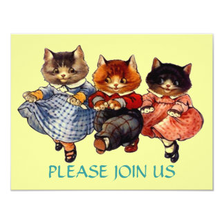 Happy Cats Line Dancing Dance Party Invitation