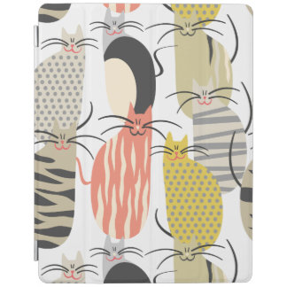 Happy Cats Whimsical Pattern iPad Cover