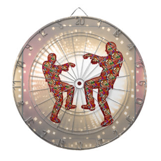 HAPPY CELEBRATIONS Print: ZOMBIE MOON Dance Dartboard