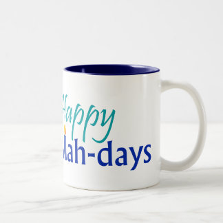 Happy Challah-days Blue-lined Mug