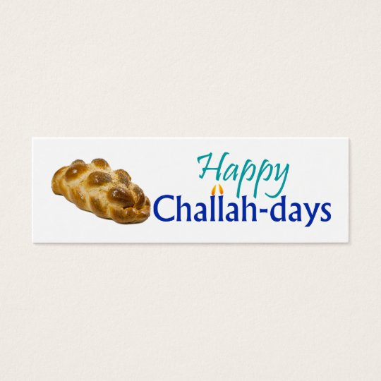 Happy Challah-days Gift Tag Mini Business Card
