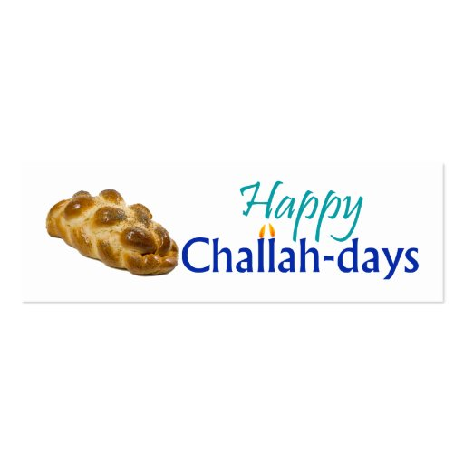 Happy Challah-days Gift Tag Pack Of Skinny Business Cards