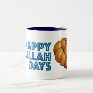 Happy Challah Days Hanukkah Chanukah Holiday Mug