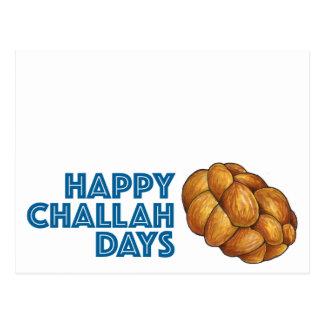 Happy Challah Days Hanukkah Chanukah Postcard