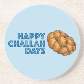 Happy Challah Days Hanukkah Jewish Holiday Bread Coaster