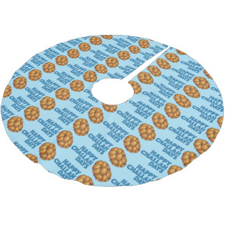 Happy Challah Days Holidays Hanukkah Tree Skirt