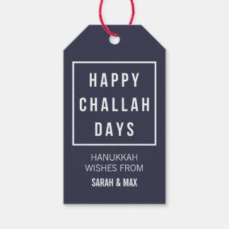 Happy Challah Days   Modern Minimalist Hanukkah Gift Tags