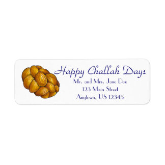 Happy Challah Days Personalized Hanukkah Labels