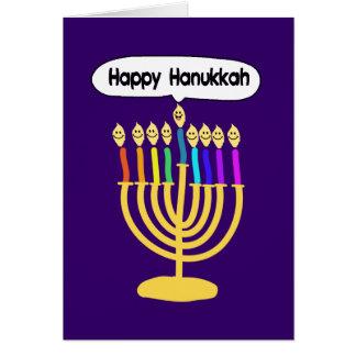 Happy Channukah Menora / Chanukia Greeting Card