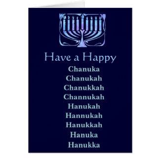 Happy Chanuka Greeting Cards