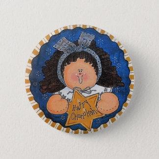 Happy Chanukah Button Pin