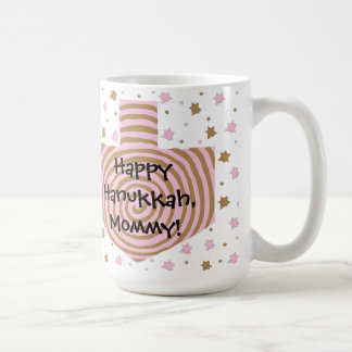 Happy Chanukah/Hanukkah PINK/Brown Star Mug
