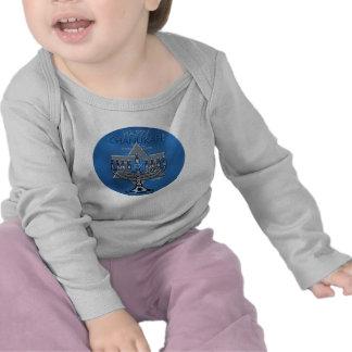 Happy Chanukah - Menora & Star of David Tee Shirt