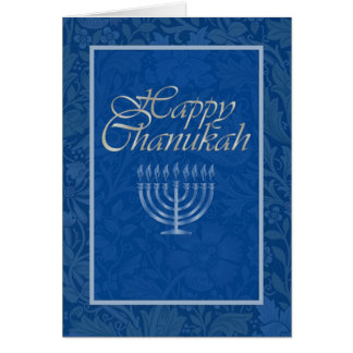 Happy Chanukah & Menorah Greeting Card