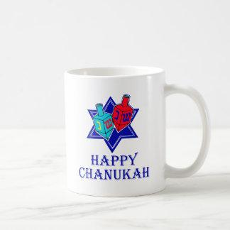Happy Chanukah Star Dreidel Mugs
