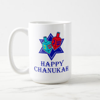 Happy Chanukah Star & Dreidel Coffee Mugs