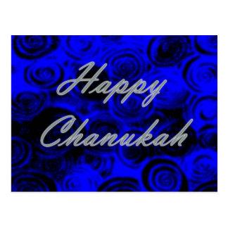 Happy Chanukah Swirls Postcard