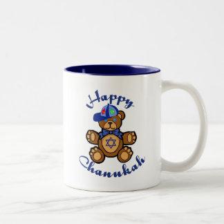 Happy Chanukah Teddy Bear Coffee Mug