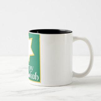 Happy Chanukah Two-Tone Mug