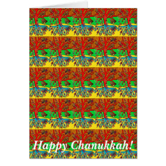 Happy Chanukkah - Hearts Grow Into Butterflies Greeting Card