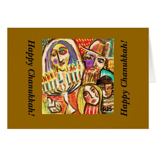 Happy Chanukkah : Jewish Festival of Lights Greeting Card