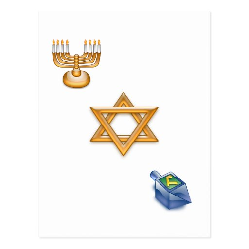 Happy Chanukkah Postcard