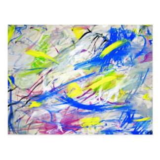 Happy Chaos Abstract Background Postcard