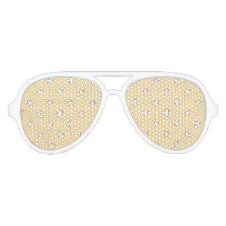 Happy Character Kids Motif Pattern Aviator Sunglasses