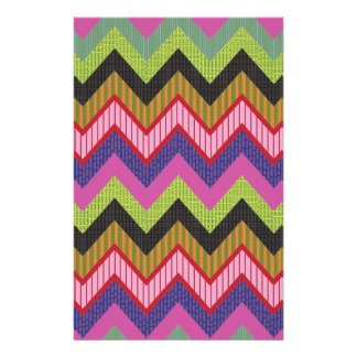 Happy chevron stationery