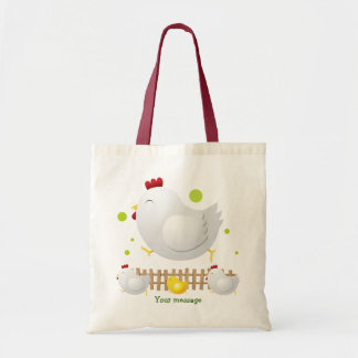 Happy Chicken Family Tote