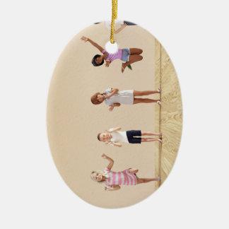 Happy Children in a Day Care or Daycare Center Ceramic Ornament