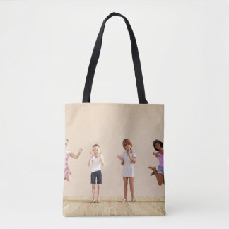 Happy Children in a Day Care or Daycare Center Tote Bag
