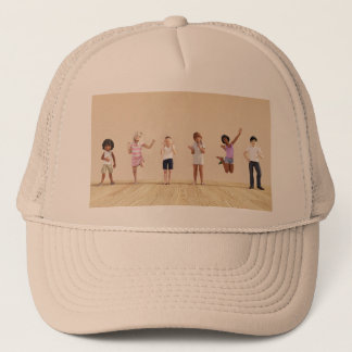 Happy Children in a Day Care or Daycare Center Trucker Hat