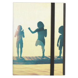 Happy Children Playing in the Park Illustration iPad Air Covers