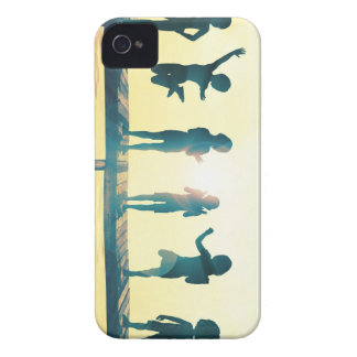 Happy Children Playing in the Park Illustration iPhone 4 Case-Mate Case
