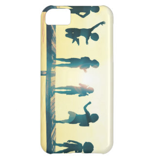 Happy Children Playing in the Park Illustration iPhone 5C Case