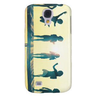 Happy Children Playing in the Park Illustration Samsung Galaxy S4 Cases