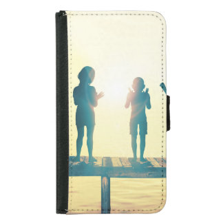 Happy Children Playing in the Park Illustration Samsung Galaxy S5 Wallet Case