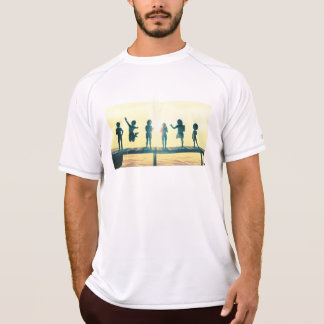 Happy Children Playing in the Park Illustration T-Shirt