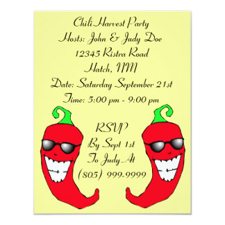 Happy Chiles Chile Pepper Ristra PARTY INVITATION