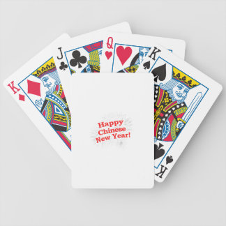 Happy Chinese New Year Design Bicycle Playing Cards