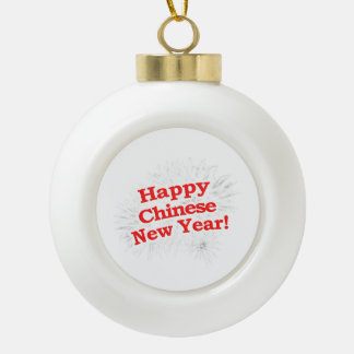 Happy Chinese New Year Design Ceramic Ball Decoration