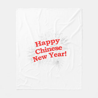 Happy Chinese New Year Design Fleece Blanket