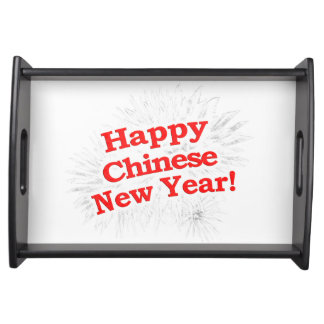 Happy Chinese New Year Design Serving Tray