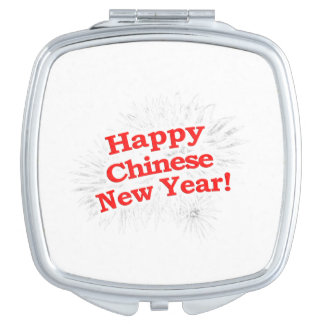 Happy Chinese New Year Design Vanity Mirrors