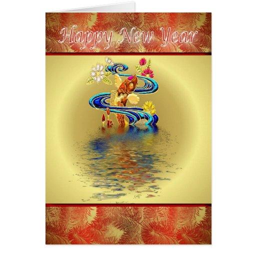 Happy Chinese New Year koi Vietnamese New Year Cards
