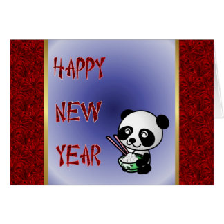 Happy Chinese New Year panda Vietnamese New Year Card
