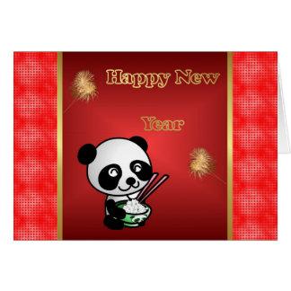 Happy Chinese New Year panda Vietnamese New Year Greeting Card