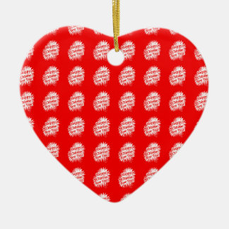 Happy Chinese New Year Pattern Ceramic Heart Decoration